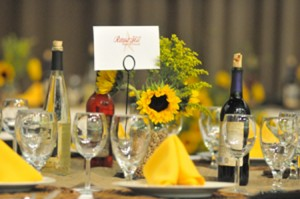 Sponsorship table setting